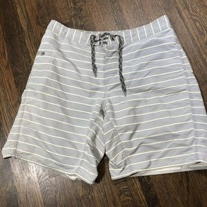 Patagonia Shorts Size 35 Gray Striped Boardshorts
